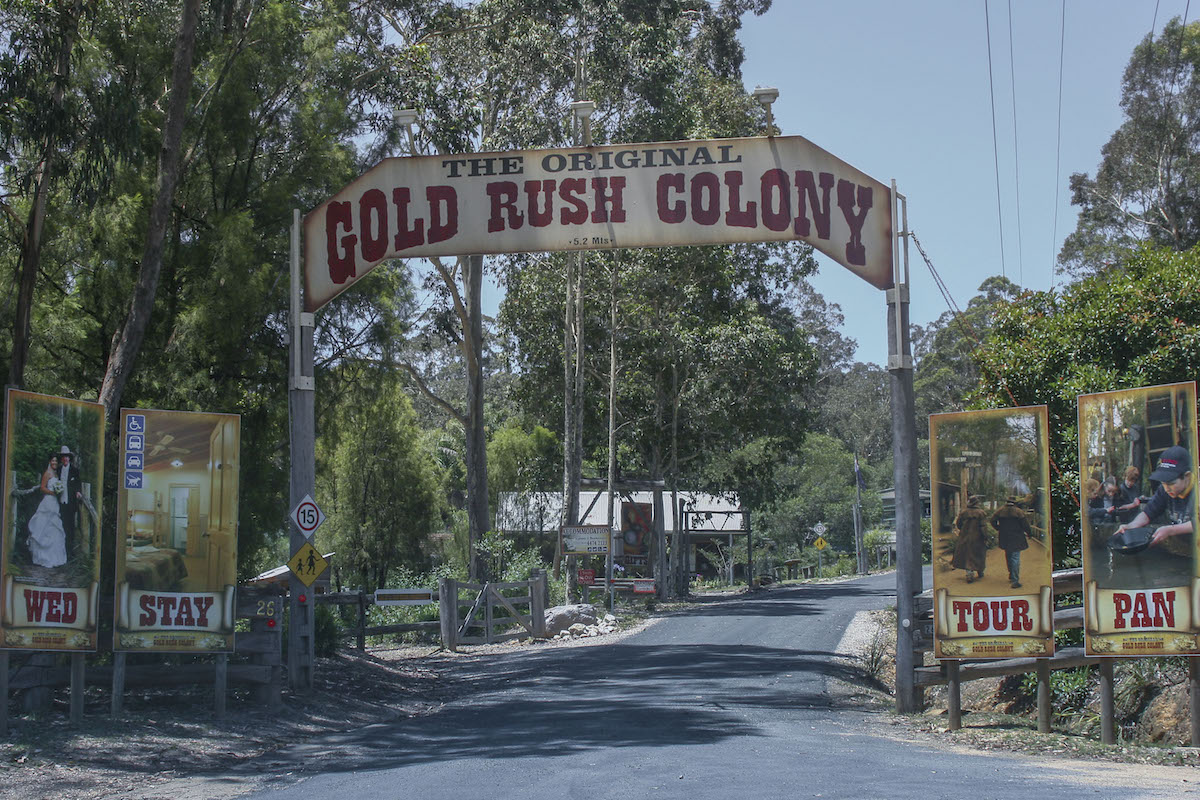 Gold Rush Colony attraction, Mogo NSW